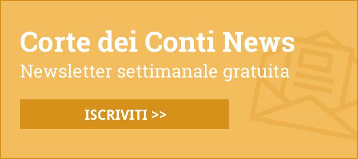 Corte dei Conti News: newsletter settimanale gratuita - ISCRIVITI